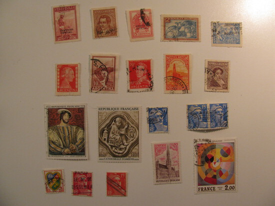 Vintage stamps set of: France & Argentina