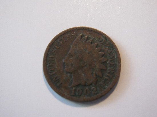US Coins: 1902 Indian Head penny
