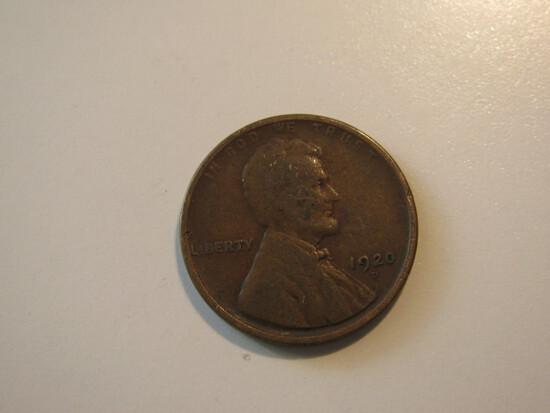 US Coins: 1x1920-D Wheat Pennies