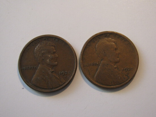 US Coins: 2x1920-S Wheat Pennies