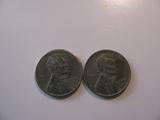 US Coins:2x 1943-S Steel pennies