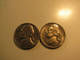 US Coins: 2x1964 BU/Clean 5 Cents
