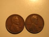 US Coins: 2x1929-D Wheat Pennies