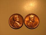 US Coins: 2xBU/Very clean 1961-D Wheat pennies