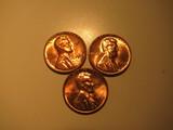 US Coins: 3xBU/Clean 1962 pennies