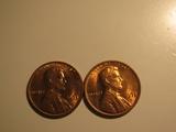 US Coins: 2xBU/Very clean 1973-D pennies