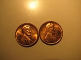 US Coins: 2xBU/Very clean 1966 pennies
