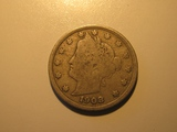 US Coins: 1x1908 V Liberty Nickel