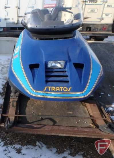 1987 Bombardier Ski Doo Stratos 496 Cc Snowmobile Electric Start Hand Warmers Very Clean