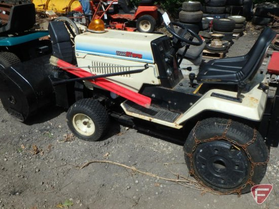 Mtd Gt 1846 Tradesman Lawn  Garden Tractor With Snow Blower