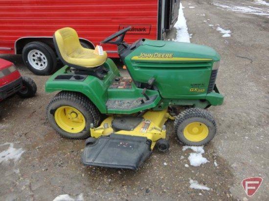 2003 John Deere GX345 garden tractor, 54in deck, 20 HP