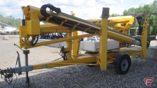 2009 Nifty TM50 trailer type man lift, model TM50HGE, dual powered, 4 battery system with charger