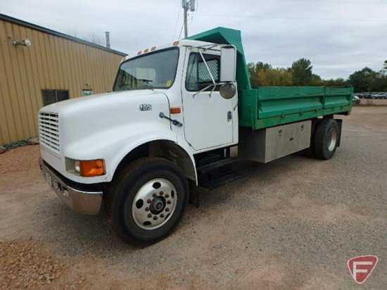 1997 International 4700 Dump Truck, VIN # 1HTSCABP6VH501132