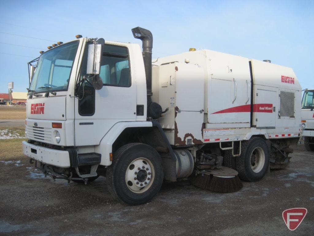 2007 Elgin Road Wizard Sweeper on Sterling SC8000 Truck, VIN # 49haadbv07dx58004