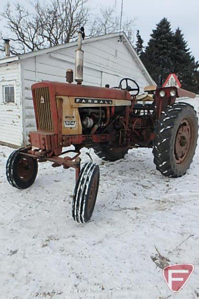 IH/International Harvester Farmall 504 row crop tractor sn 11649S-Y-FF