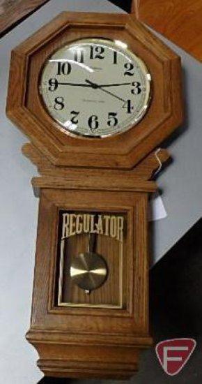 Waltham Westminster Chime Regulator wall clock, 29inH