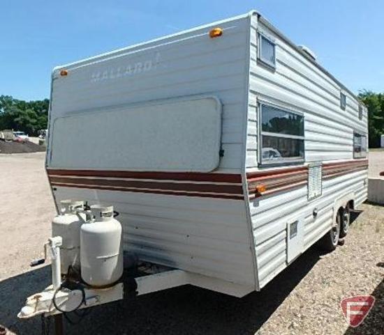 1982 20 ft. Mallard Camper Trailer VIN: 1p9mb02k1cb008259