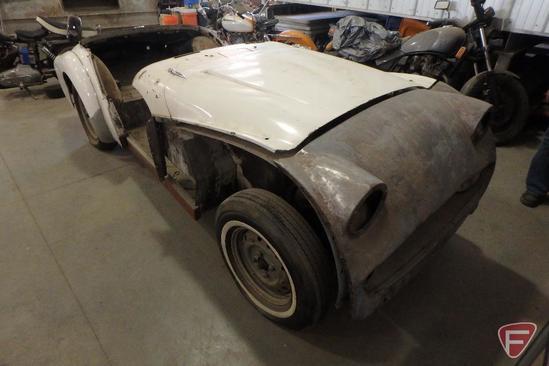 1959 Triumph convertible passenger car, VIN #TS78101L