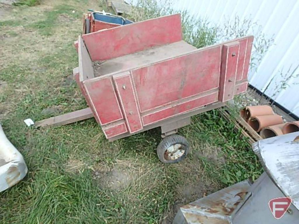 utility wagon on homemade steel frame