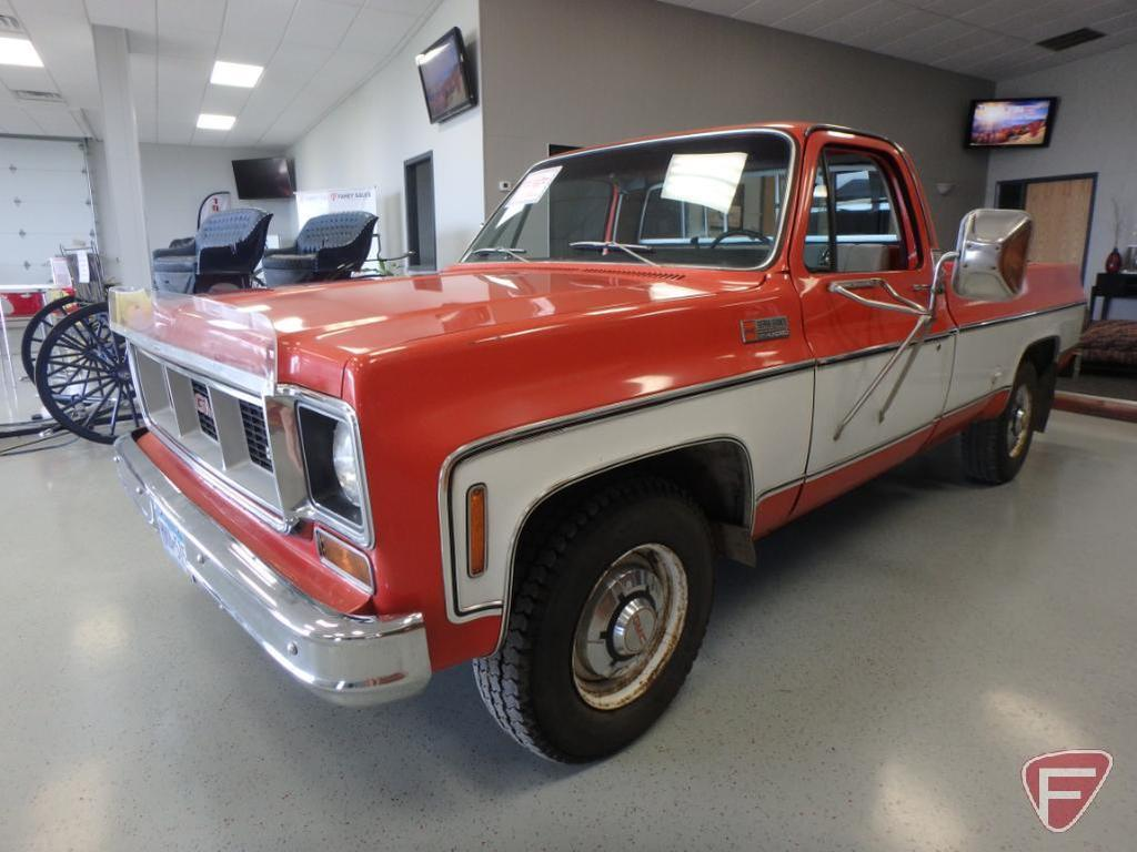 1974 Gmc Sierra Grande 2500 Camper Special Pickup Truck Vin Tcz244f717830 Collector Cars Classic Vintage Cars Classic Vintage Cars 1970 S Online Auctions Proxibid
