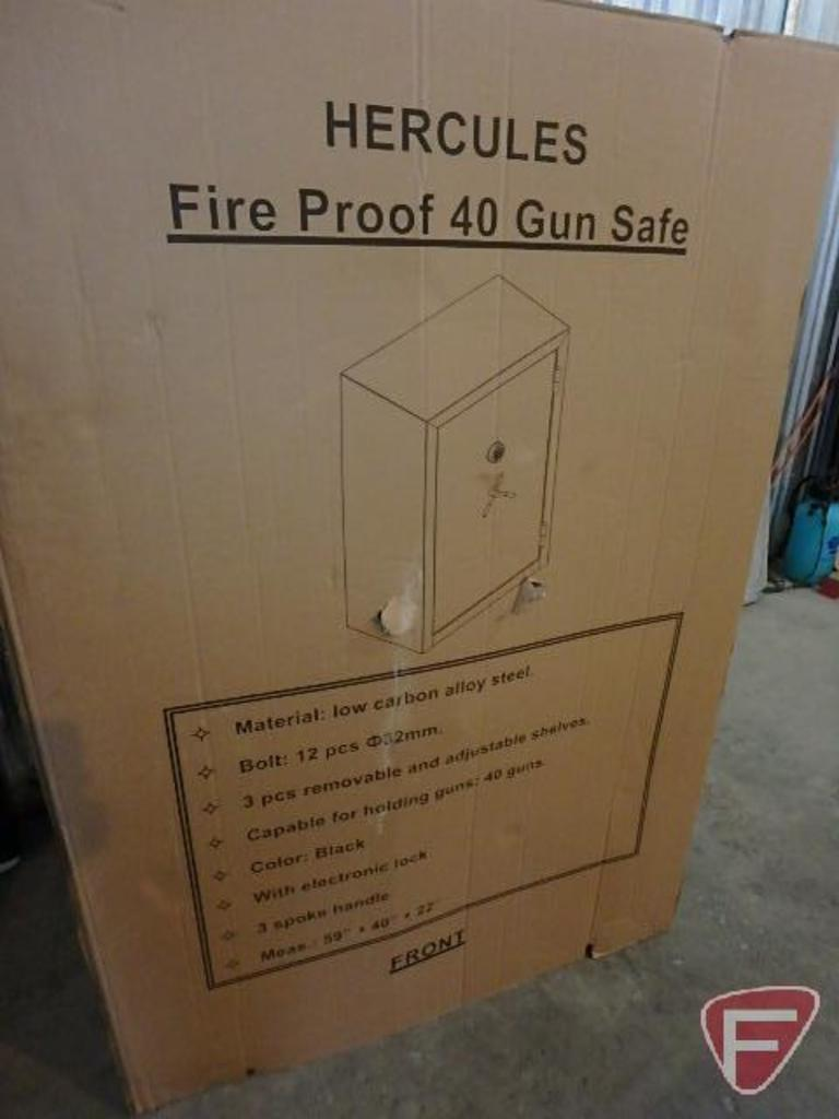 Lot: Hercules fire proof 40 gun safe | Proxibid Auctions