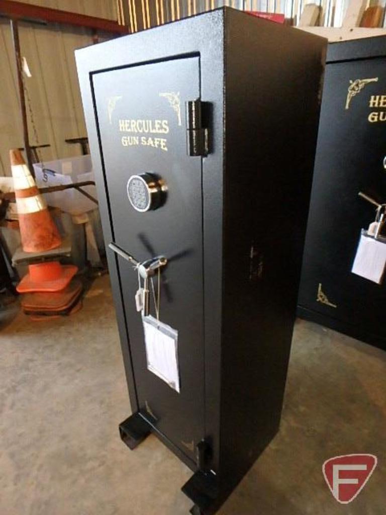 Lot: Hercules fire proof 14 gun safe | Proxibid Auctions