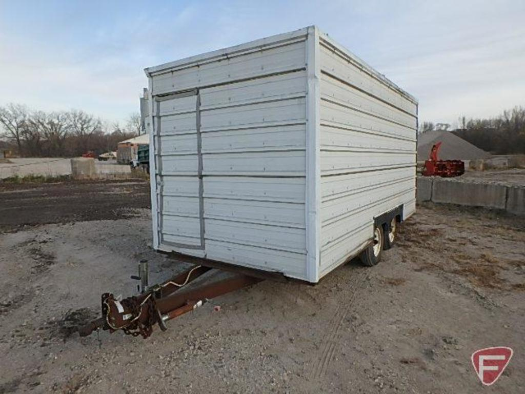 Homemade dual axle enclosed trailer