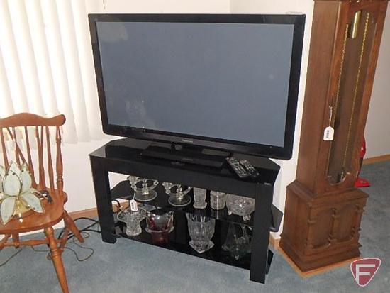 "Panasonic 46"" flat screen tv/television model TC-P46S30 and media cabinet"