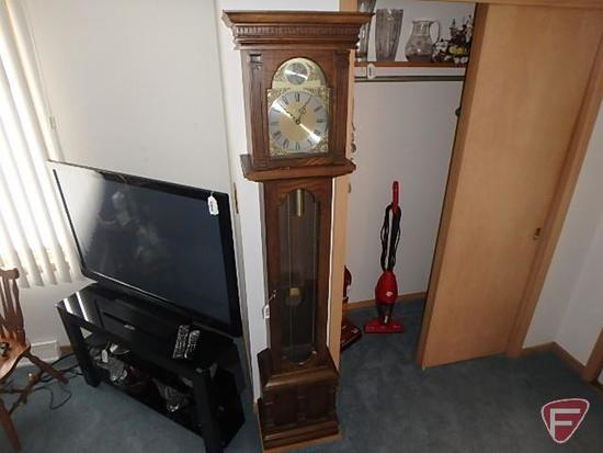 """Cornwell grandfather clock with weights, 75""""H"""