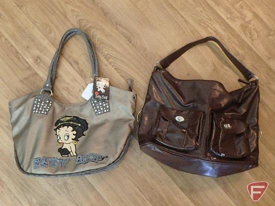 Pair of purses, one has Betty Boop design