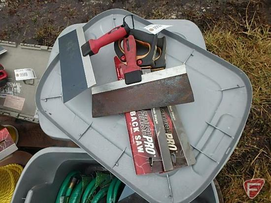 """2 12"""" MUD KNIFES AND 2 NEW SAWS"""