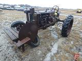 Farmall F20 tractor, narrow front, 540 PTO, spoked wheels, drawbar, buzzsaw