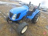 2004 New Holland TC35A utility tractor, 3pt, 540 PTO, 1487 hrs show, mechanical front wheel assist