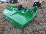 NEW CIMARRON 5' 3 PT HEAVY DUTY ROUND BACK ROTARY BRUSH MOWER WITH SLIP CLUTCH AND REAR CHAIN GUARD