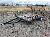 SINGLE AXLE TRAILER WITH FLIP UP GATE 84