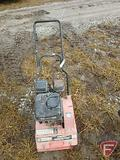 WALKING PLATE COMPACTOR RUNS AND WORKS