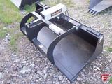 New Tomahawk One Cylinder 66 inch Grapple Bucket, Fits Universal Skid Steer, DMH-3012