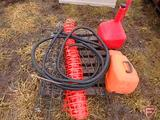 MIXED PALLET ORANGE SAFTEY FENCE, STIHL SAW CASE, METAL CAGES