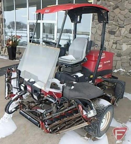 2007 Toro 5200-D model 03660 mower, 4010 hrs showing, 7 reels, SN: 270000511