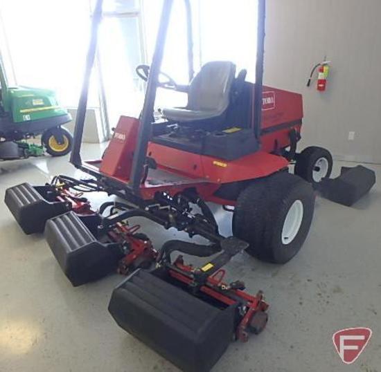 """Toro 5200D fairway mower, 3168 hours showing, (5) 21"""" 8 blade reels, 2 wheel drive, ROPS, headlights"""