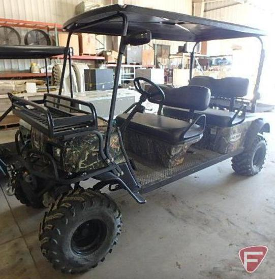 Bad Boy electric 4x4 4-passenger buggy, camouflage, SN: 52ps96t38an001031
