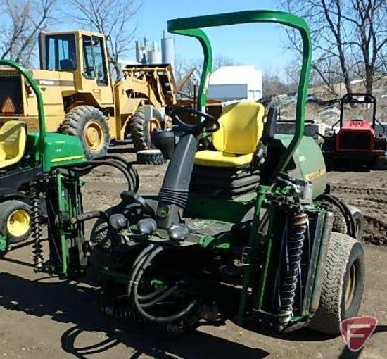 2009 John Deere 7700 diesel 2WD 5-gang fairway mower, ROPS, 1,208 hrs showing, SN: TC7700X020040