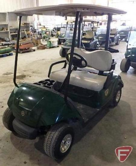 2012 Yamaha electric golf car, green, with top, SN: jw9-201908
