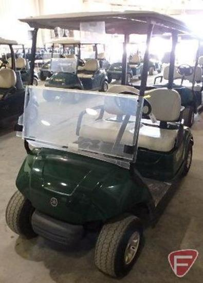 2012 Yamaha electric golf car, green, with top and windshield, SN: jw9-203622
