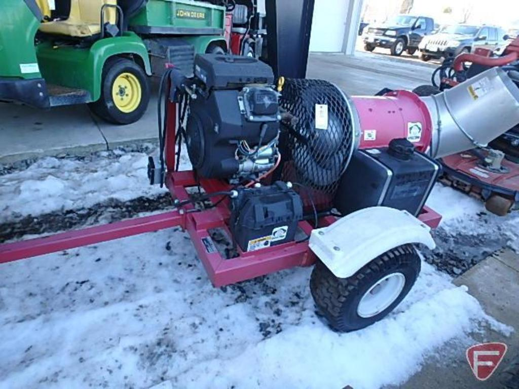 Buffalo blower, pull-behind turbine blower on trailer, SN: 10297
