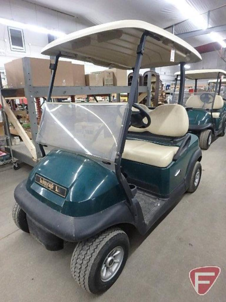 2014 Club Car Precedent electric golf car, green, with roof, windshield