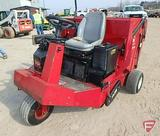 Toro 4800 3-wheel riding lawn sweeper, SN: 44044-90102, hydro drive Kohler OHV gas engine, 909 hrs
