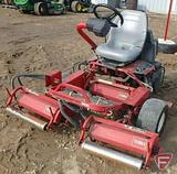 Toro 3100 Greensmaster gas triplex reel mower with rollers, 3,343 hrs
