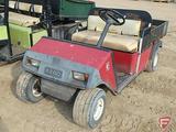 EZ-GO Workhorse model GXT-804 gas 2WD utility vehicle, fixed metal box, SN: A24482