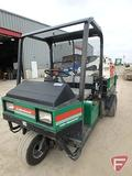 Cushman 3-wheel 2WD gas utility vehicle with hydraulic dump box, ROPS, headlights, 5,749 hrs